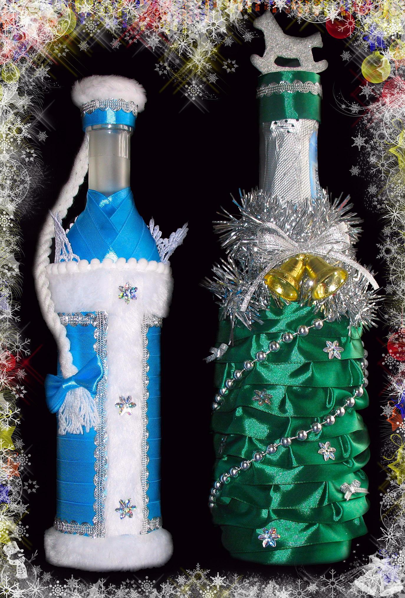 Съемное украшение для шампанского. Дед Мороз. Мастер 53